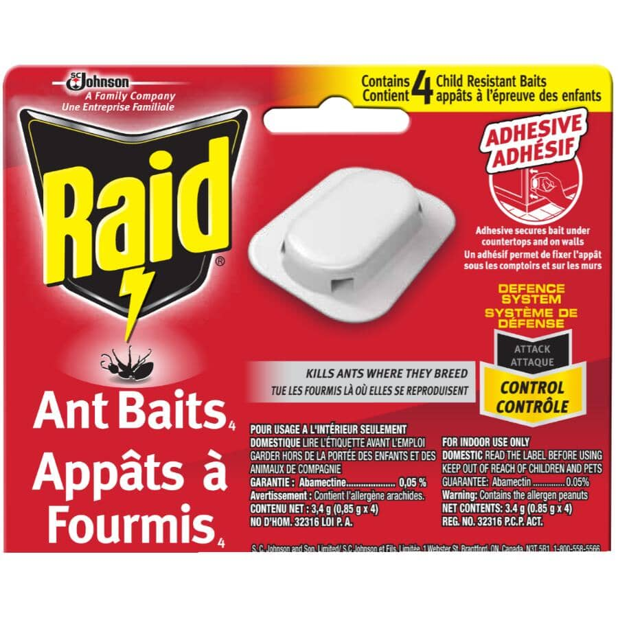 RAID:4 Pack Ant Baits