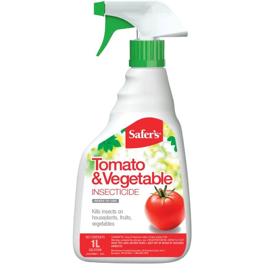 SAFER'S:Tomato & Vegetable Ready-to-Use Insecticide - 1 L