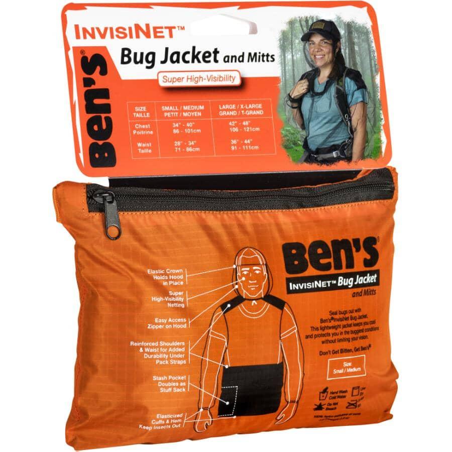 BEN'S:Nylon Mesh Adult Bug Jacket - Small / Medium