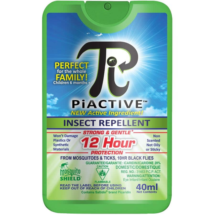 MOSQUITO SHIELD:12-Hour Piactive Deet Free Pocket Size Insect Repellent - 40 ml