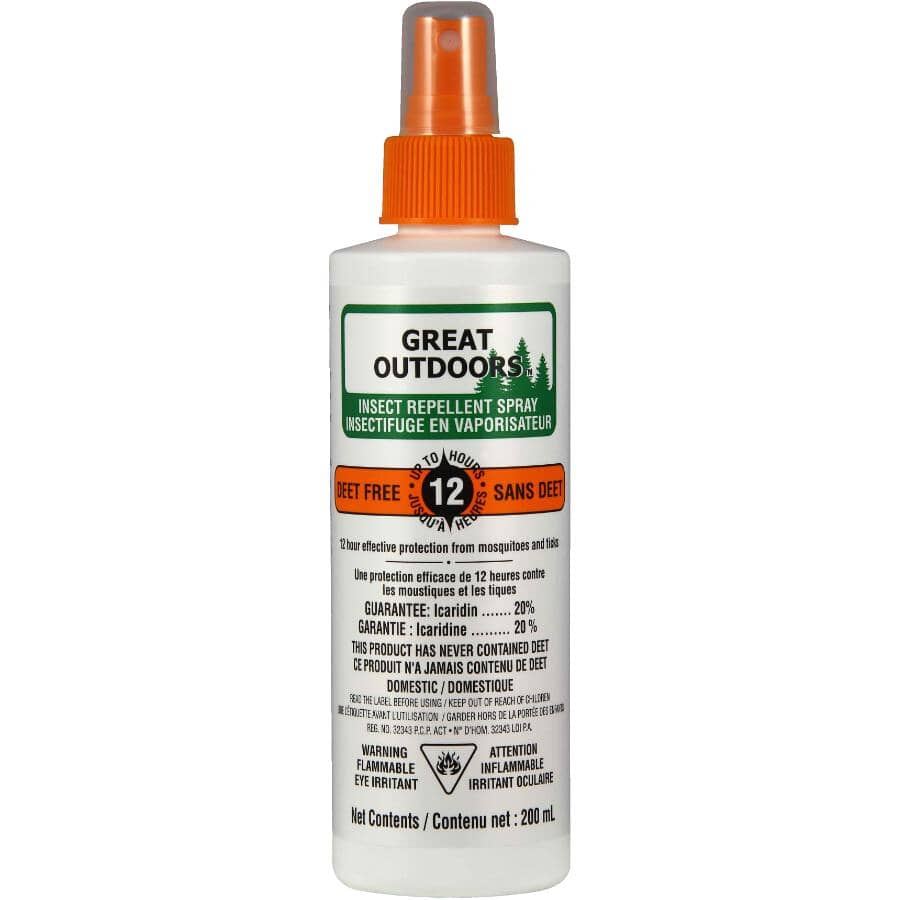 GREAT OUTDOORS:12-Hour Deet Free Insect Repellent - 200 mL