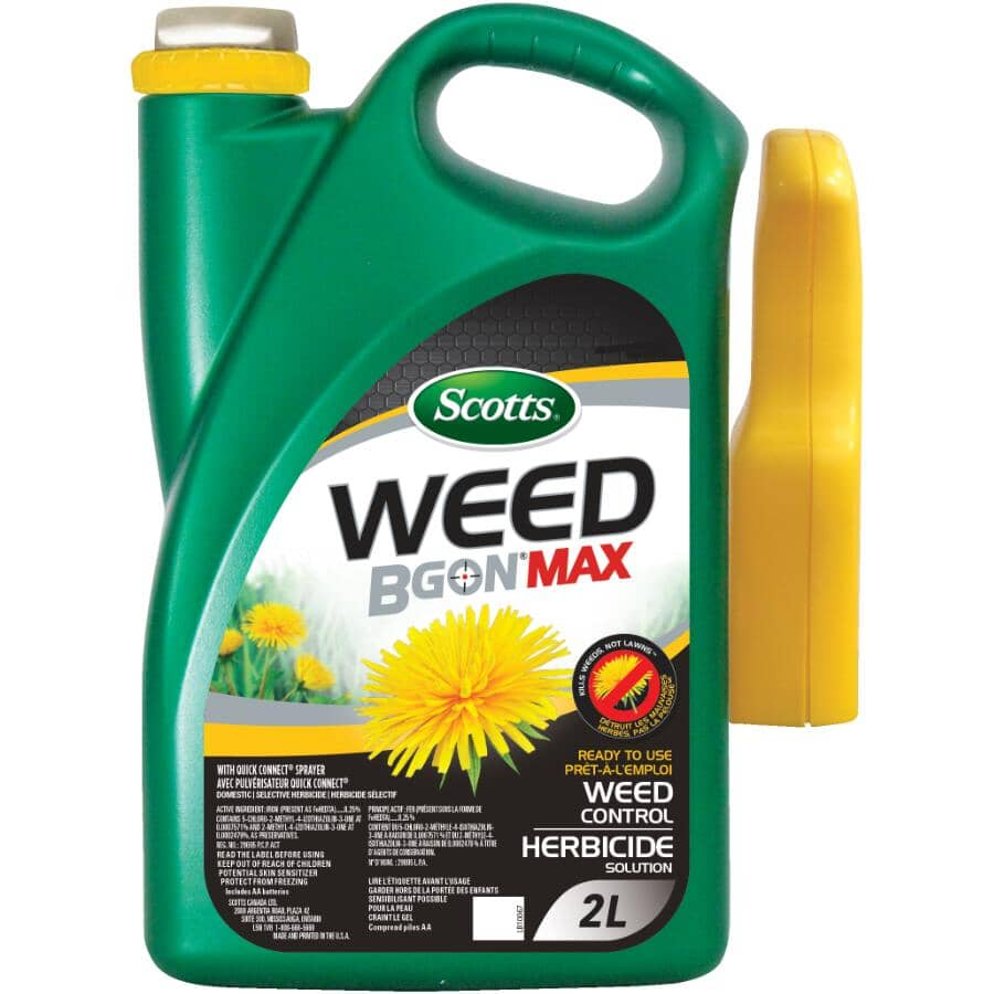 SCOTTS:2L Ready to Use Weed B Gon Max Weed Control Herbicide, with Quick Connect Sprayer