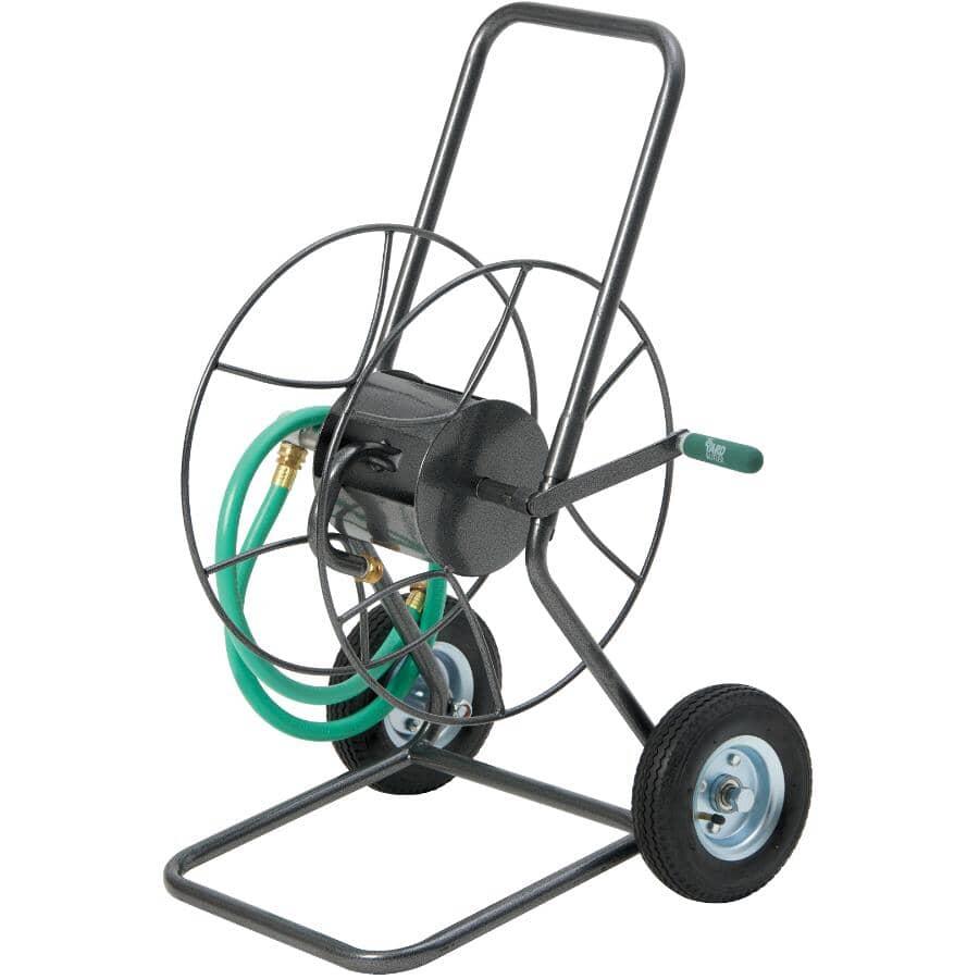YARD BUTLER:Heavy Duty Wheeled Metal Hose Reel, with 200' Hose Capacity