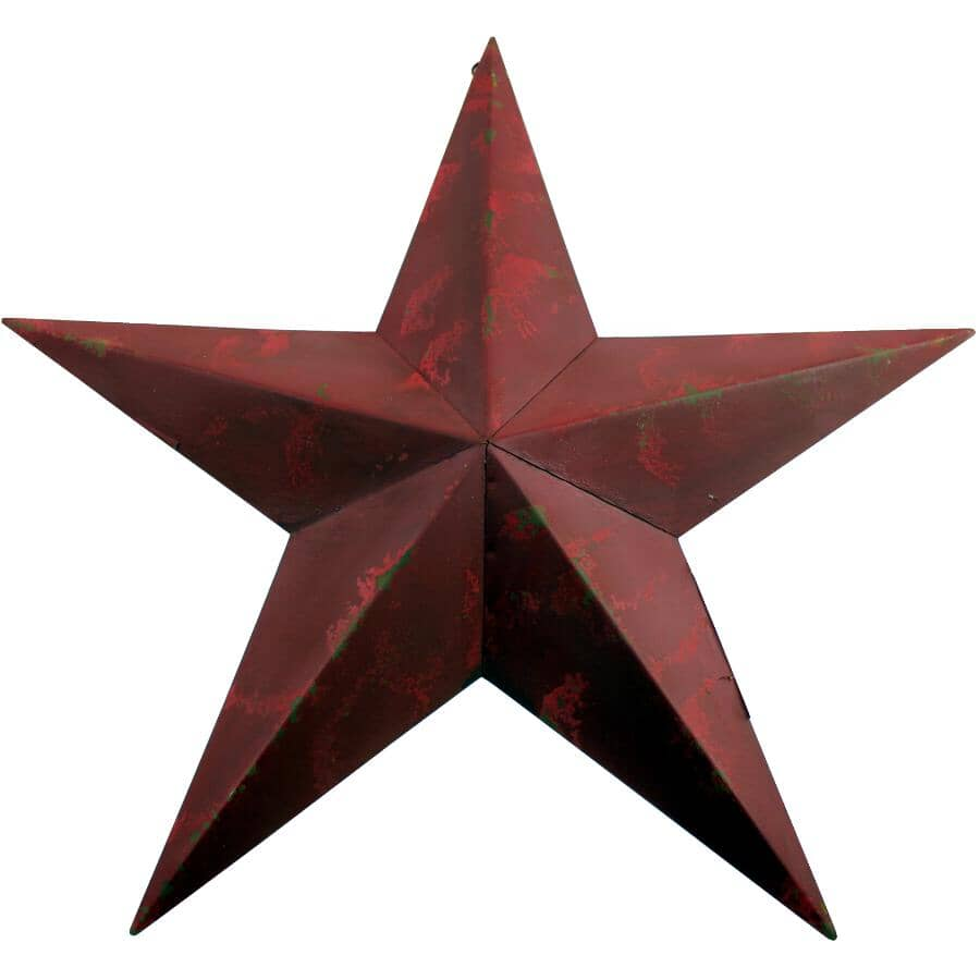 """KOPPERS HOME:18"""" Antique Red Star Wall Ornament"""