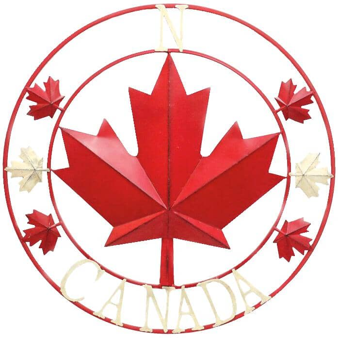 """KOPPERS HOME:27"""" Canada Circle Wall Hanging"""