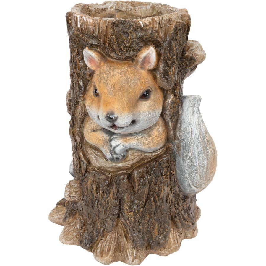 FUSION:Squirrel in a Tree Planter Ornament