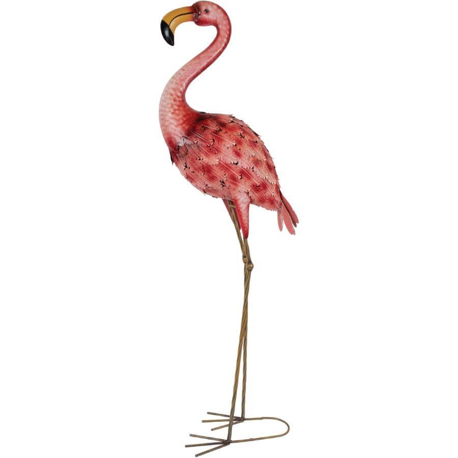 FUSION:Metal Flamingo Lawn Ornament