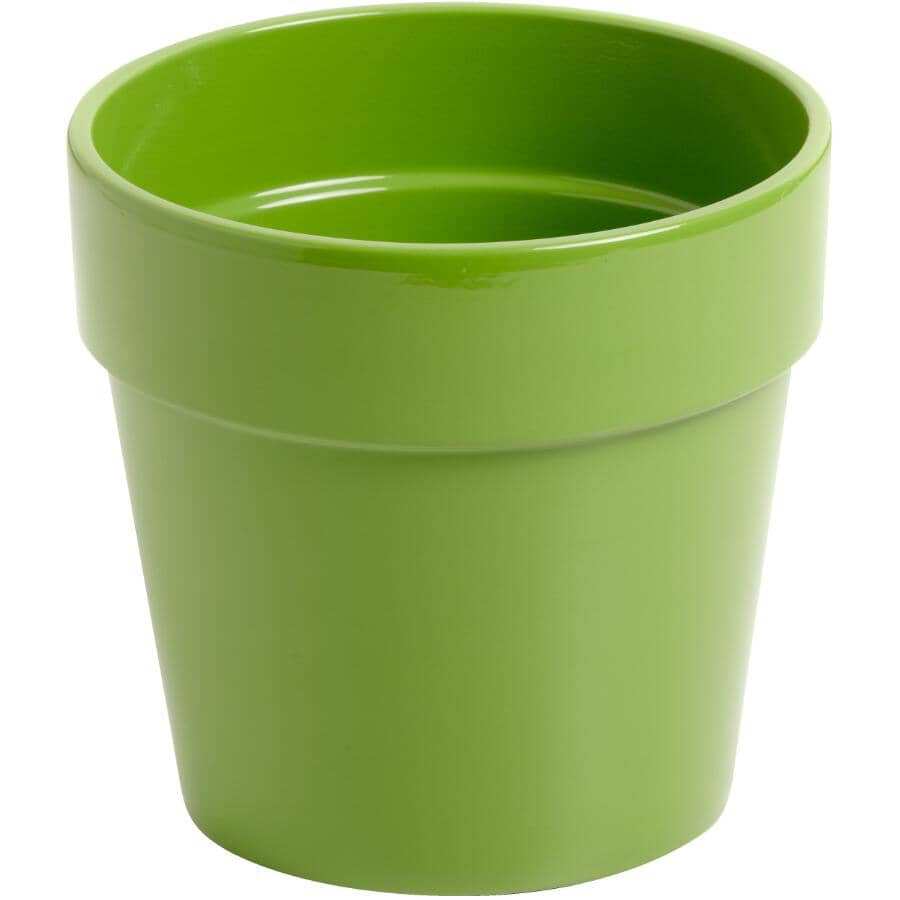 "HOFLAND:4"" Green Malibu Ceramic Planter"