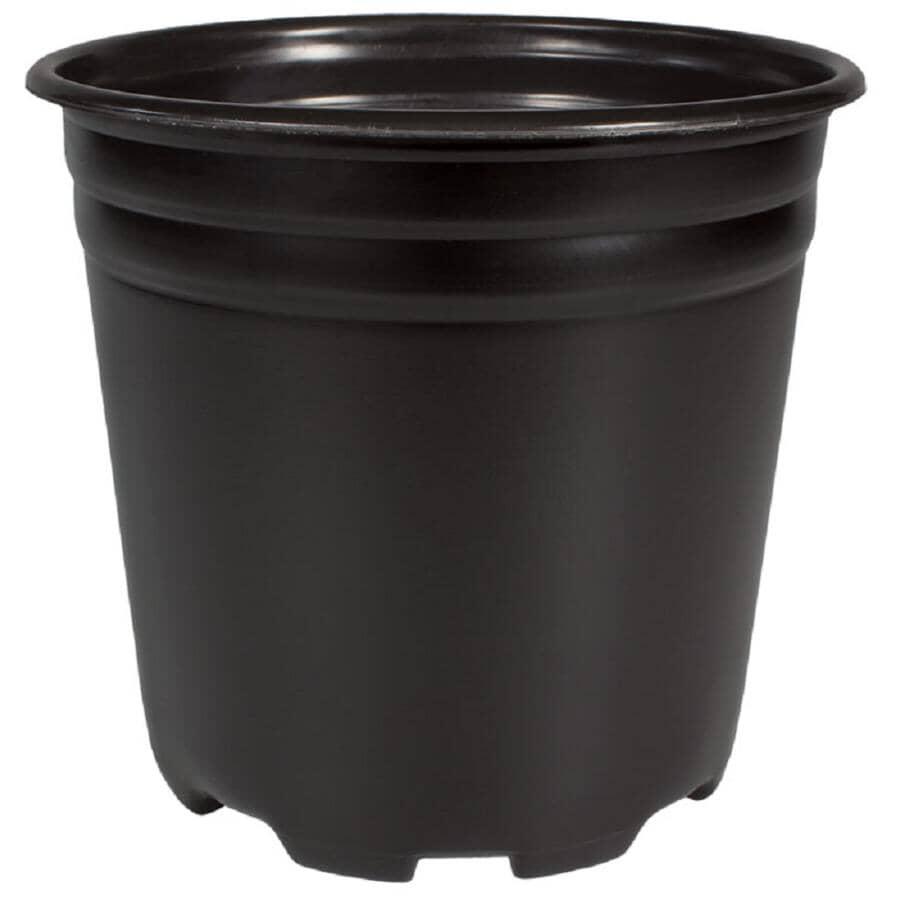 PLANTERS PRIDE:5Gal, 3.6Gal Capacity Black Nursery Planter