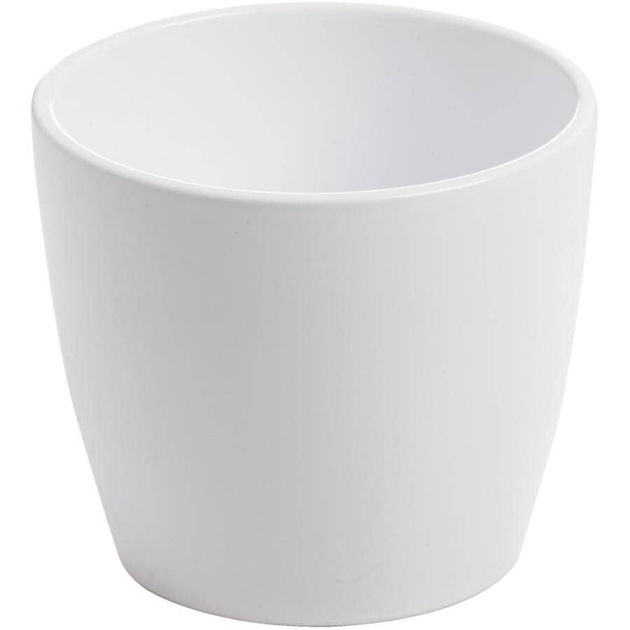 "HOFLAND:3"" White Marlow Ceramic Planter"
