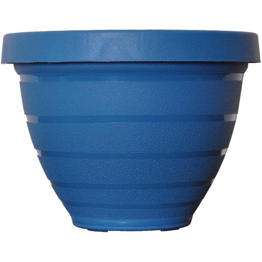 AKRO-MILS:Jardinière à auto-arrosage, bleu, 8 po