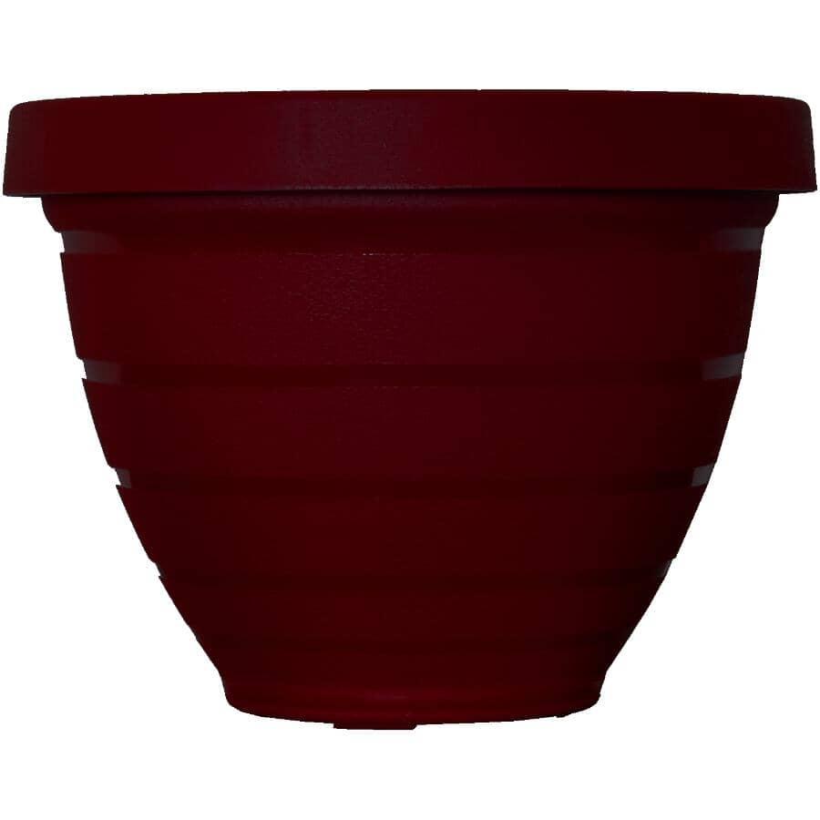 AKRO-MILS:Jardinière à auto-arrosage, rouge, 12 po