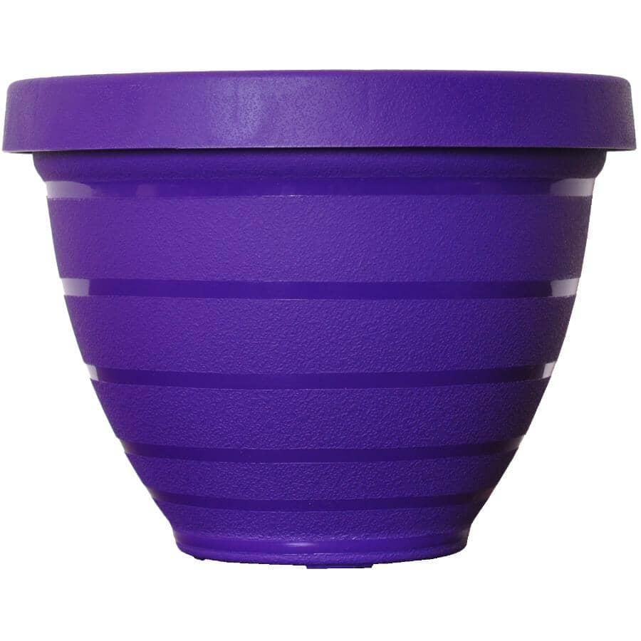 "AKRO-MILS:12"" Purple Self-Watering Planter"