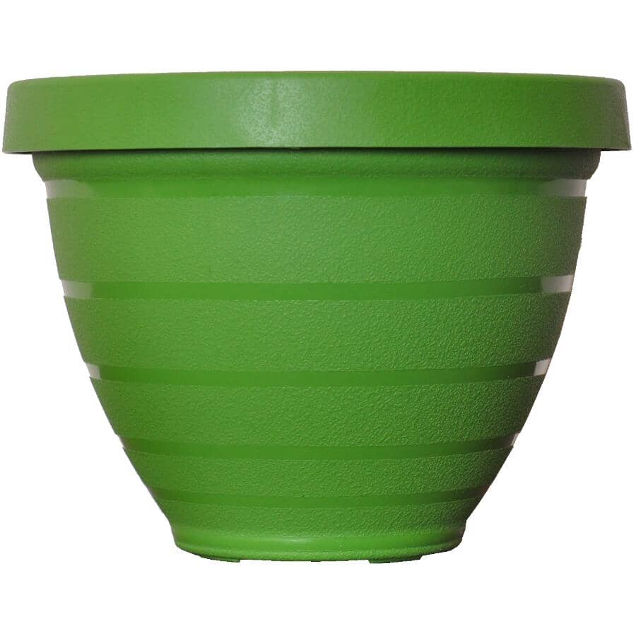 "AKRO-MILS:16"" Green Self-Watering Planter"