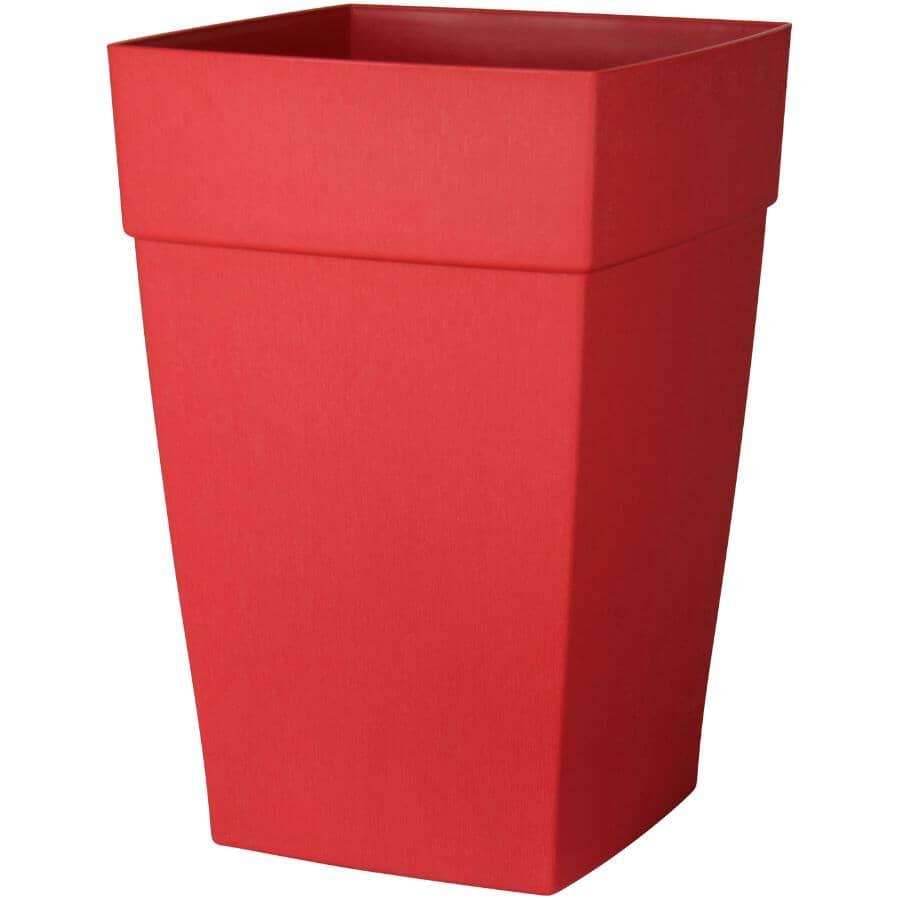 DCN:Jardinière Harmony haute à auto-arrosage, rouge, 12 po