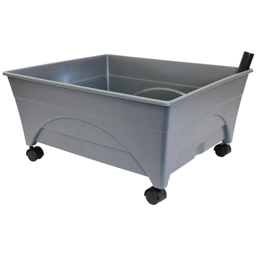 """PATIO PICKERS:24"""" x 20"""" Slate Grey Raised Garden Bed Grow System"""