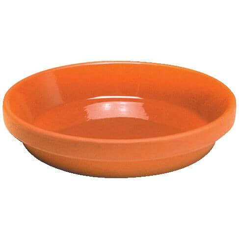 "HOFLAND:5.5"" Glazed Clay Pot Saucer"
