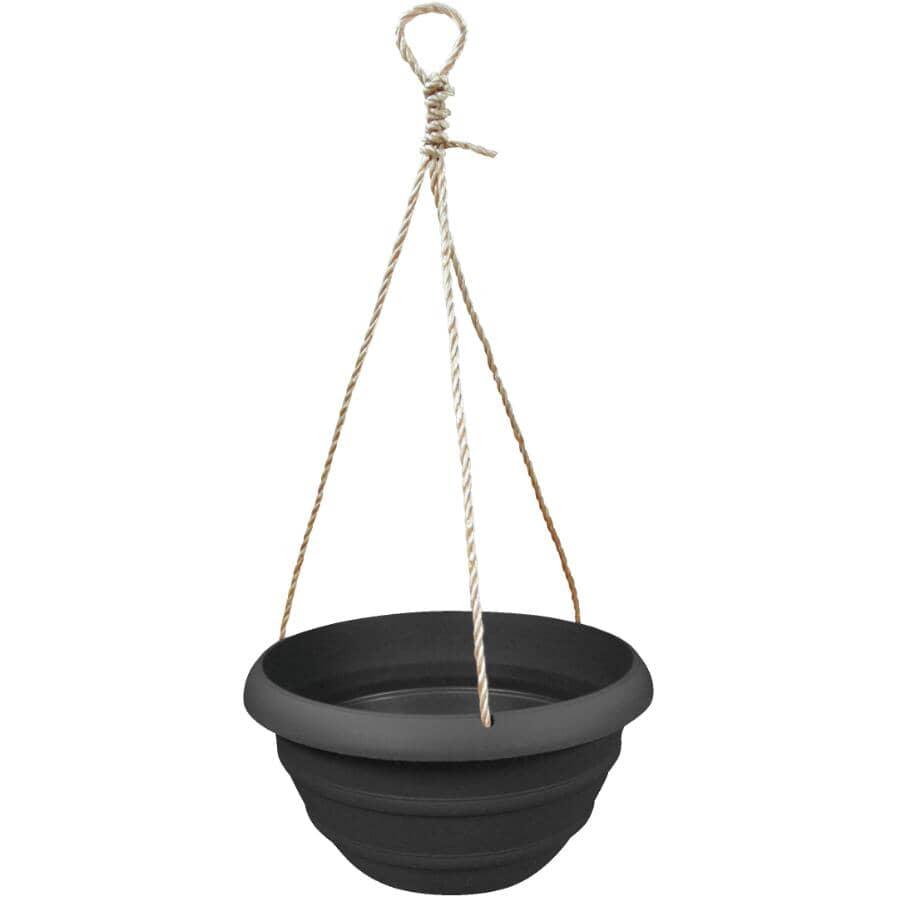 AKRO-MILS:Jardinière suspendue, noir onyx, 12 po