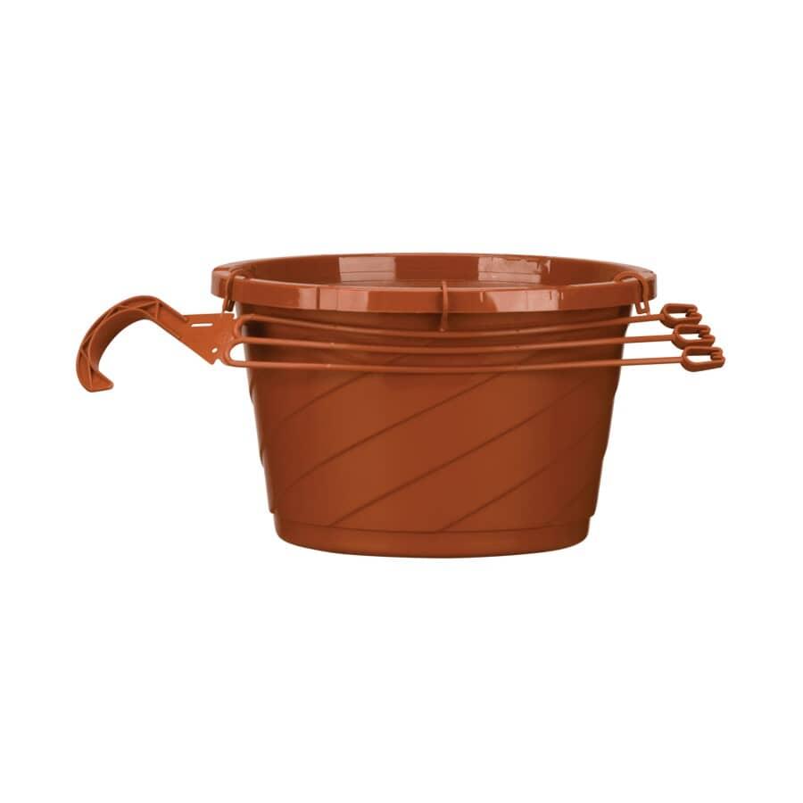 AKRO-MILS:Jardinière suspendue en argile, 10 po