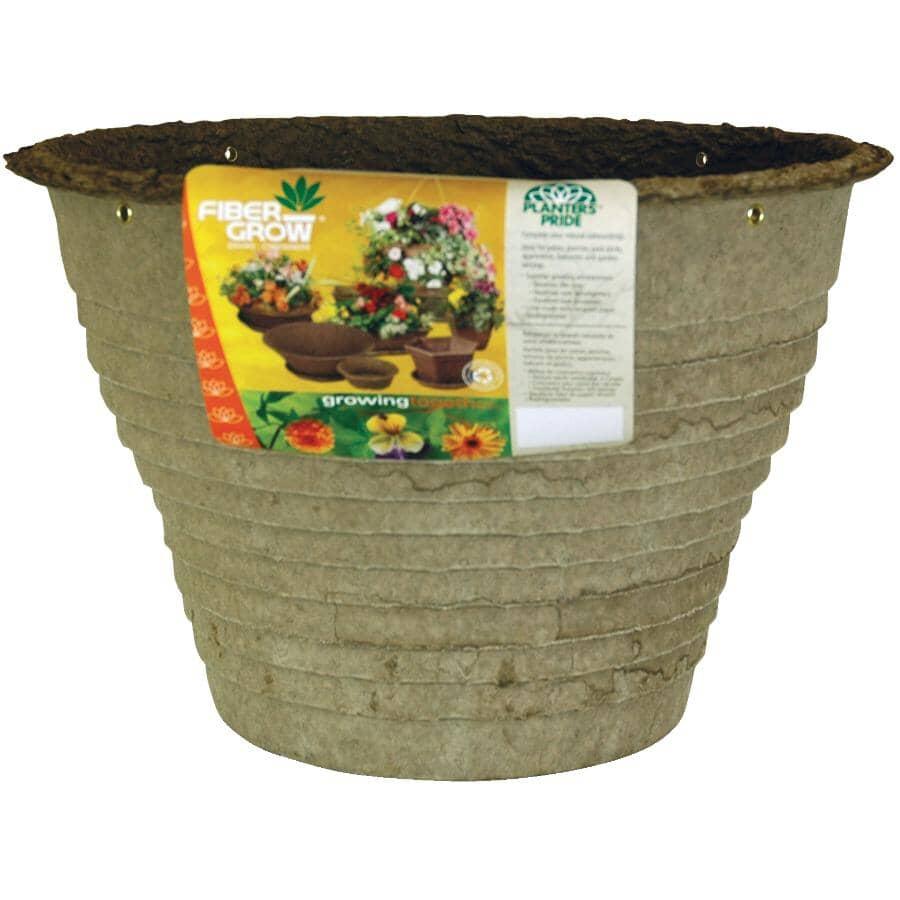 AKRO-MILS:Jardinière suspendue en fibres, 14 po