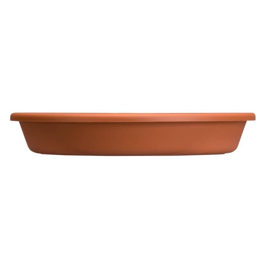 """AKRO-MILS:Terra Cotta Poly Classic Saucer, for 12"""" Planter"""