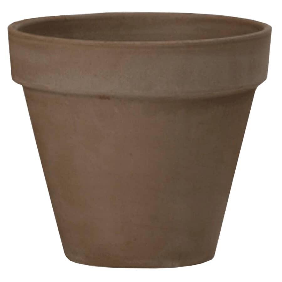 "HOFLAND:8"" Chocolate Standard Clay Planter"