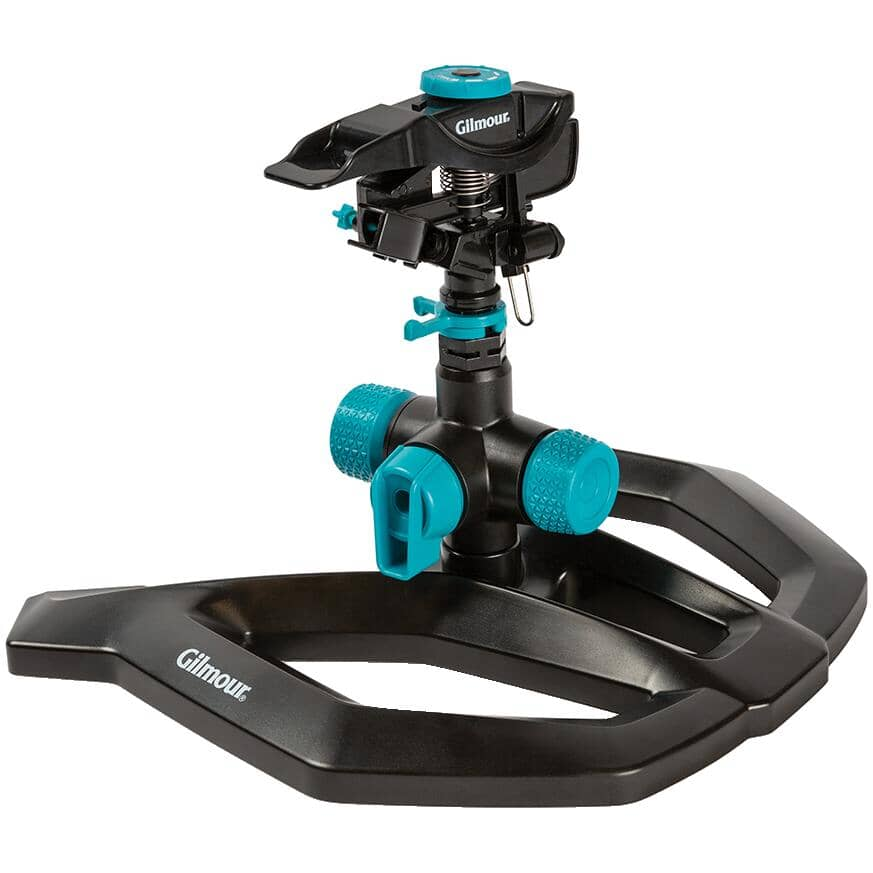 GILMOUR:Hybrid Impact Lawn Sprinkler, with Base
