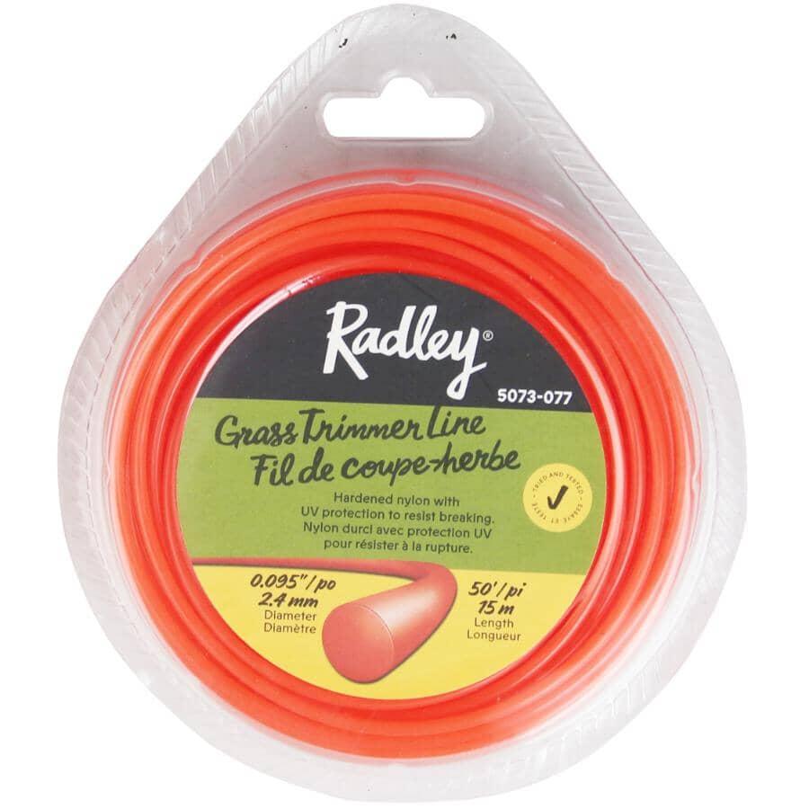 "RADLEY:.095"" x 50' Round Replacement Trimmer Line"