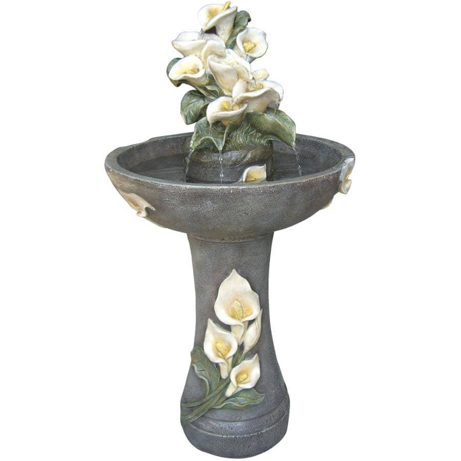 "ANGELO DECOR:37"" Lily Blossom Garden Fountain"