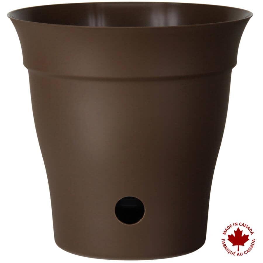 """DCN:10"""" Self-Watering Chocolate Contempra Planter"""