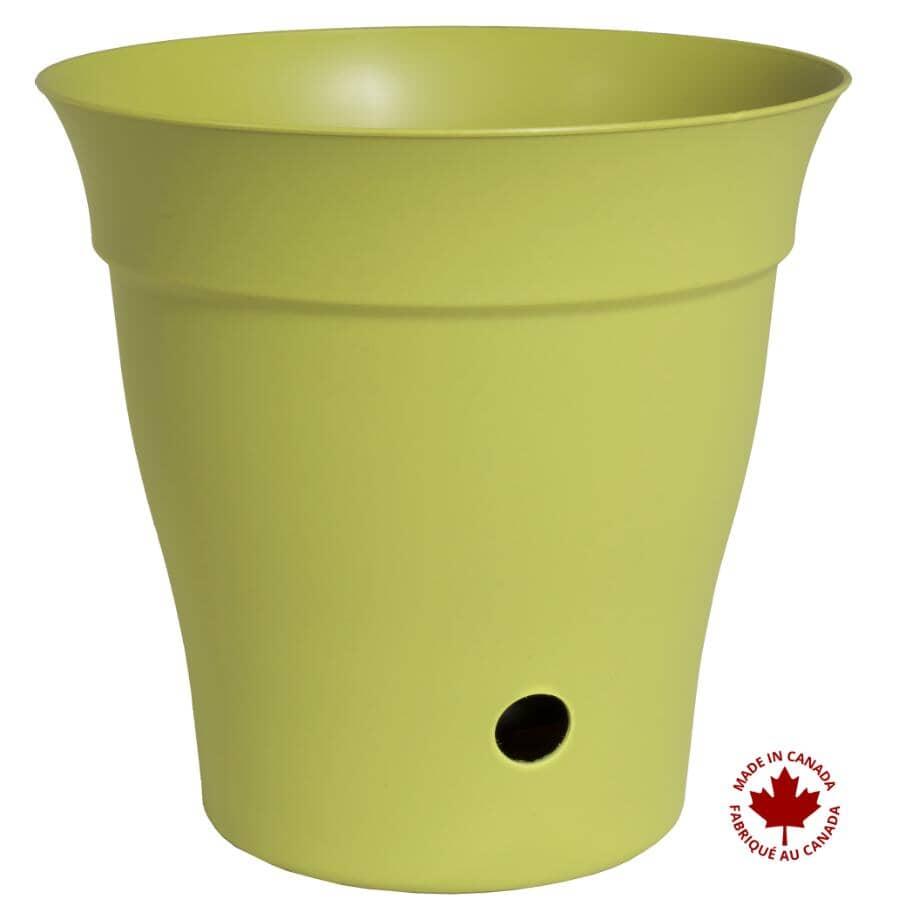 """DCN:12"""" Self-Watering Bamboo Green Contempra Planter"""