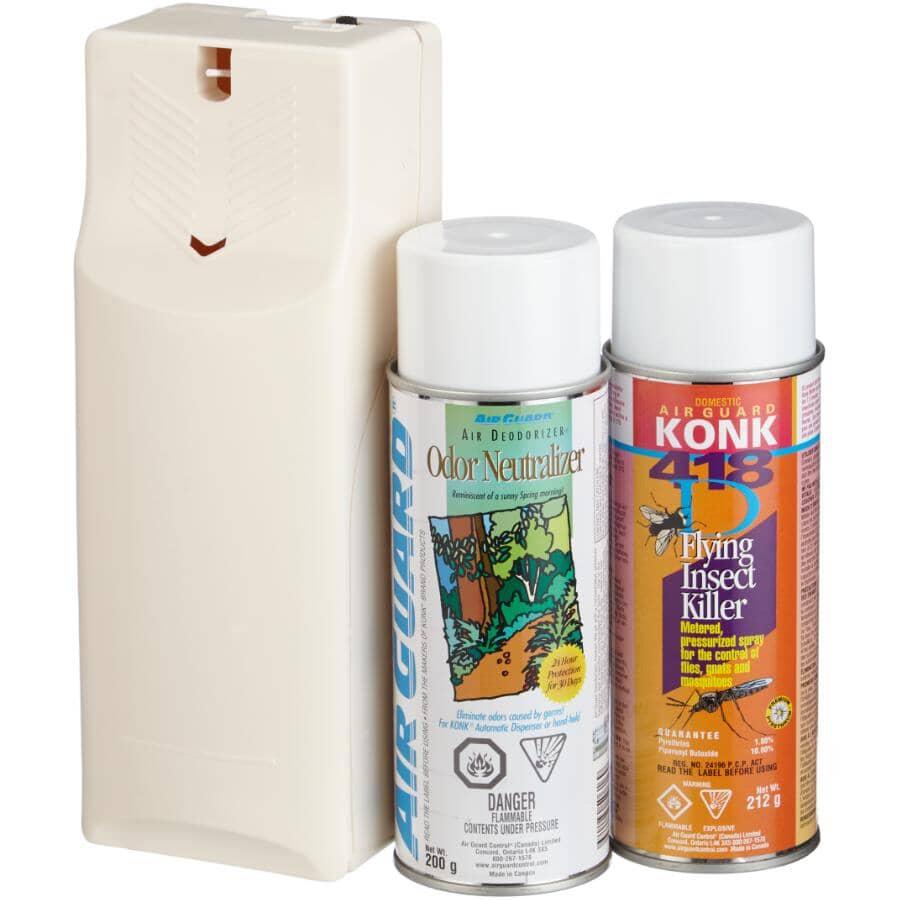 KONK:Flying Insect Killer Dispenser Kit, with Deodorizer