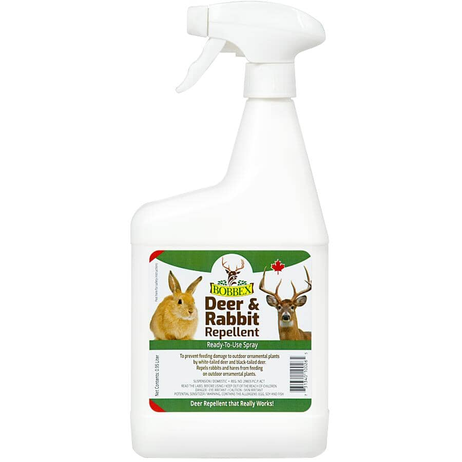 BOBBEX:Ready To Use Deer & Rabbit Repellent - 0.95 L