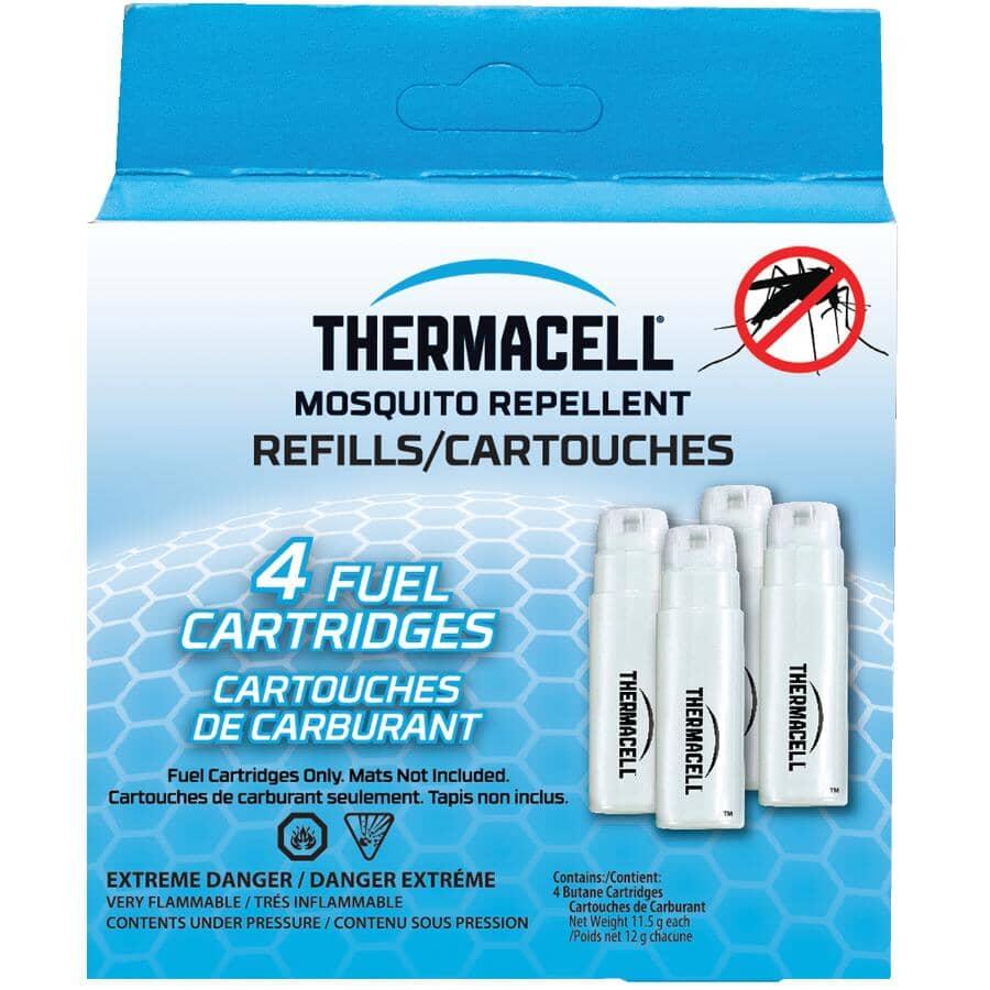 THERMACELL:Paquet de 4 cartouches de rechange pour réservoir de carburant