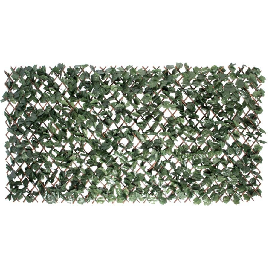 """NATURAE DECOR:Willow Trellis with Artificial Ivy Leaves - 36"""" x 72"""""""