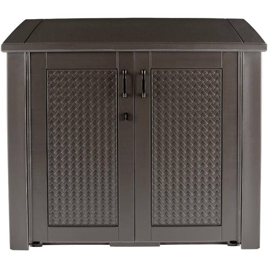 RUBBERMAID:16.4 Cu. Ft Resin Wicker Storage Cabinet