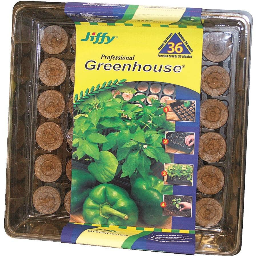 JIFFY:Seed Tray Starter Kit with 36 Peat Pellets
