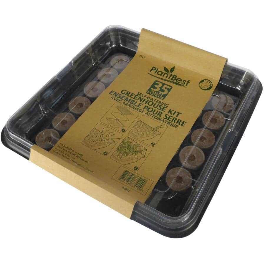 PLANTERS PRIDE:Seed Tray Starter Kit with 35 Pellets
