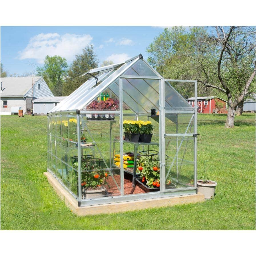 PALRAM:6' x 10' Silver Hybrid Greenhouse
