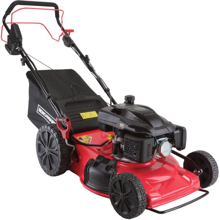 """BENCHMARK:200.9cc Self-Propelled Gas Lawn Mower - with Variable Speed & Electric Start, 22"""""""
