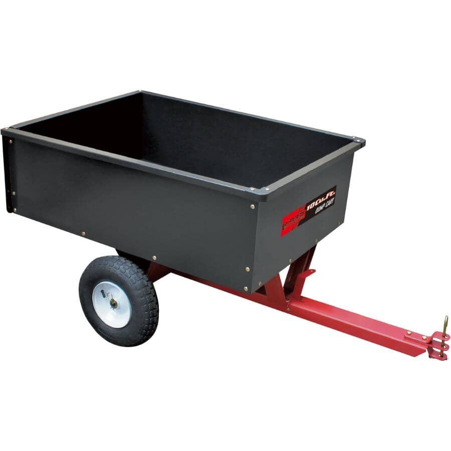 YARD COMMANDER:10 Cu. Ft. Steel Dump Cart - 500lb
