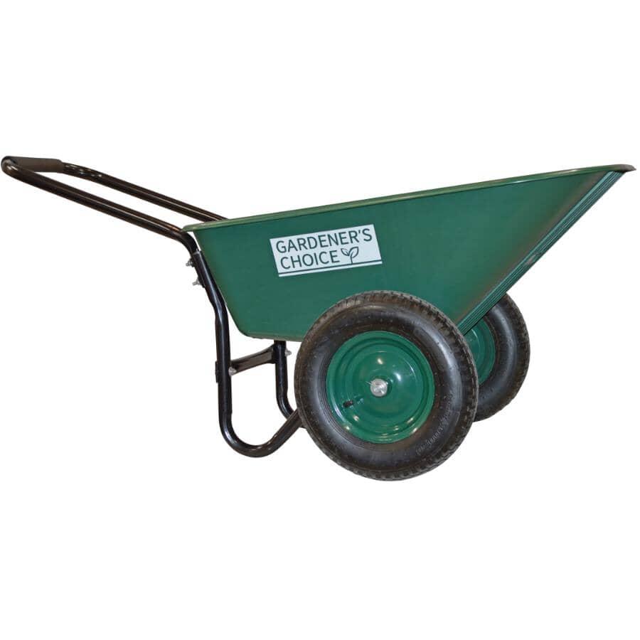 GARDENER'S CHOICE:5 Cu. Ft Poly Tray Wheelbarrow, with Dual Wheels