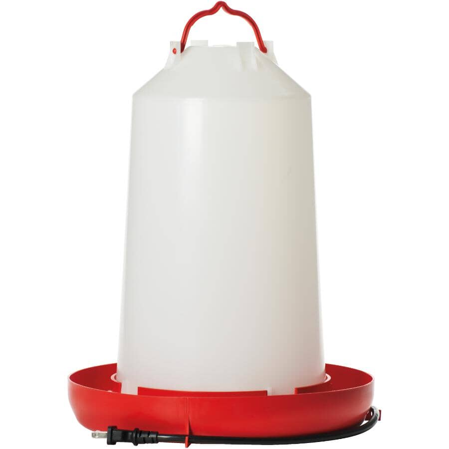 FARM INNOVATORS:3 Gal Heated Electric Poultry Waterer