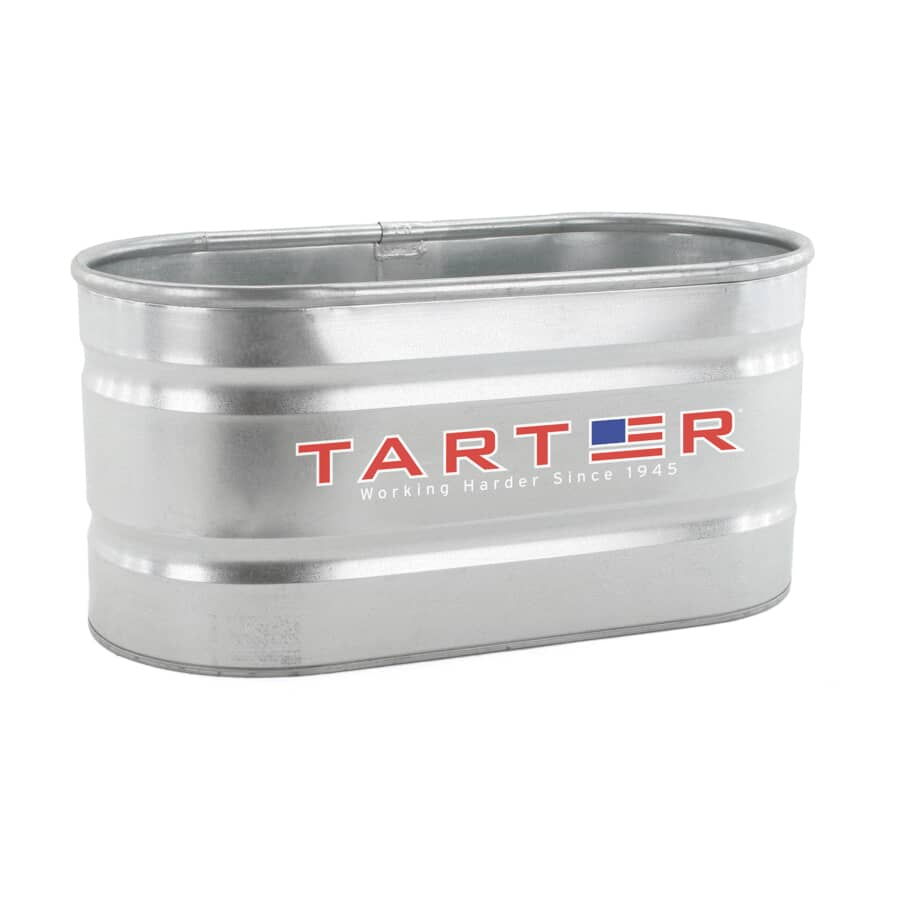 TARTER:Auge ovale en acier galvanisé de 100 gallons