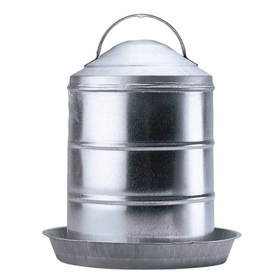 FARM TUFF POULTRY:2 Gal Galvanized Poultry Waterer