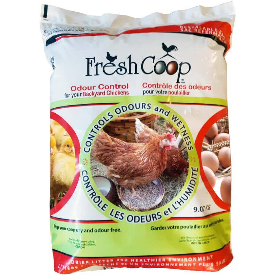 FRESH COOP:Odour Control - for Backyard Chickens, 9.07 kg