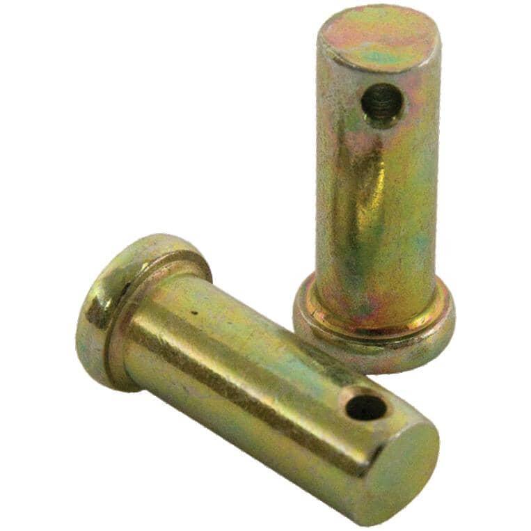 "KINGCHAIN:5/16"" x 1-1/2"" Clevis Pins - Yellow Zinc, 10 Pack"
