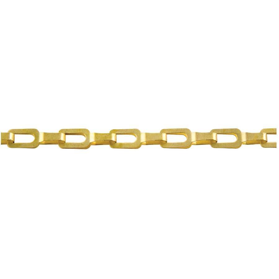 KINGCHAIN:1' #1/0 Plumber Chain - Brass