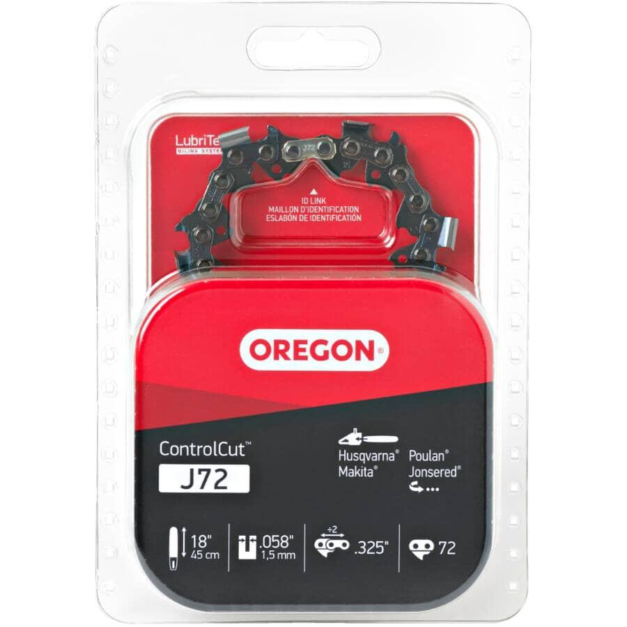 "OREGON:J72 ControlCut Replacement Chainsaw Chain - 18"""