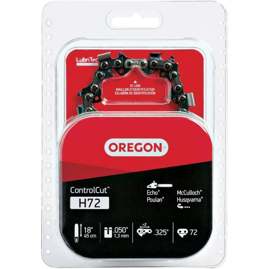 OREGON:Chaîne de rechange de scie à chaîne ControlCut H72, 18 po